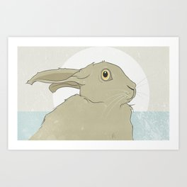 Golden Hare No.5 Art Print