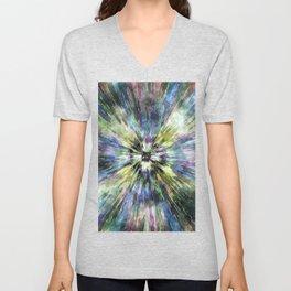 Colorful Watercolor Tie Dye Unisex V-Neck