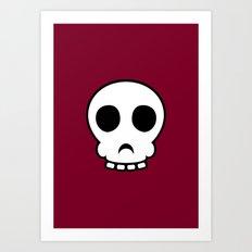 Goofy skull Art Print