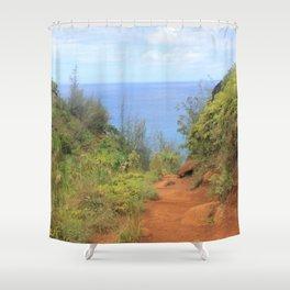 Kalalau Trail II Shower Curtain