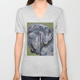Neapolitan Mastiff dog art portrait from an original painting by L.A.Shepard Unisex V-Neck