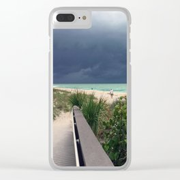 Stormy Sky, Aqua Sea Clear iPhone Case