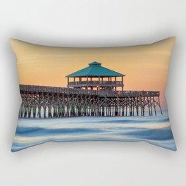 Folly Pier Sunrise Rectangular Pillow