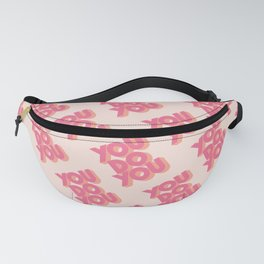 You Do You Block Type Pink Fanny Pack