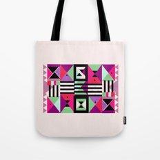 Violet Triangulation Tote Bag
