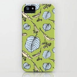 Linden pattern in sring colors iPhone Case