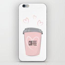 Coffee is my love iPhone Skin