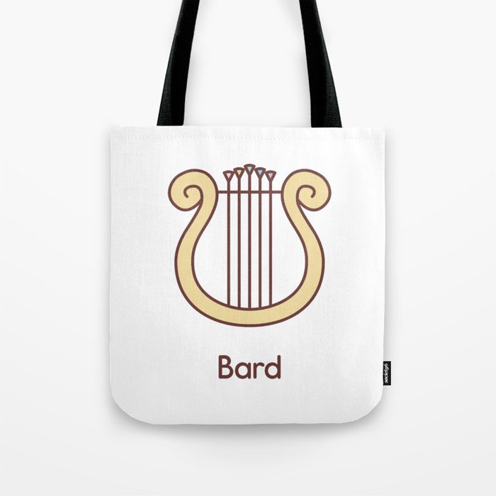 Cute Dungeons and Dragons Bard class Tote Bag