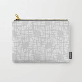 Grey & white neutral squiggle pattern Carry-All Pouch