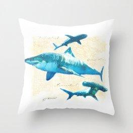 Sharks Throw Pillow