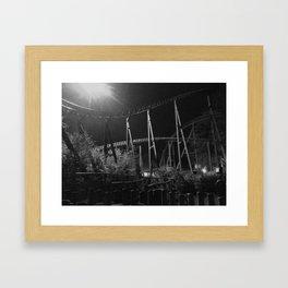 Coaster at Night Framed Art Print