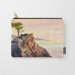 Pebble Beach Lone Cypress Tree Carry-All Pouch