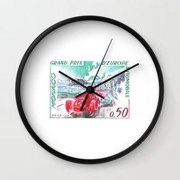 1963 Monaco Grand Prix Postage Stamp Wall Clock
