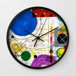 Big Blue Ball Wall Clock