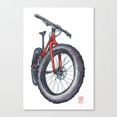Fatbike Canvas Print