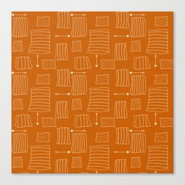 Tribal Arrows and Squares, Primitive Pattern Canvas Print