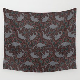 Raccoon Roundabout  Wall Tapestry
