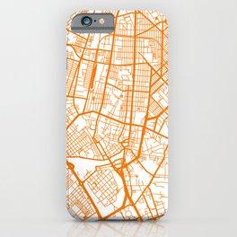 Street MAP Manila // Orange iPhone Case