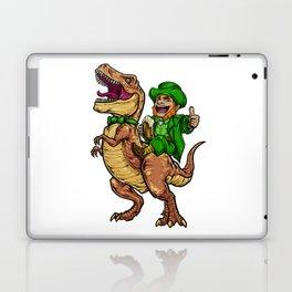 Leprechaun Rides T-Rex   Happy St. Patrick's Day Laptop & iPad Skin