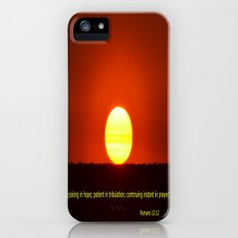 Rejoice in Hope iPhone Case