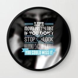 """FERRIS BUELLER"" Typography Poster Wall Clock"