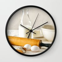 cooking Wall Clocks featuring Vintage Cooking by diane555