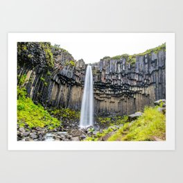 Smooth Svartifoss Art Print