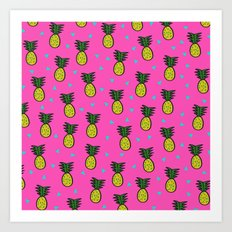 Pineapples Art Print