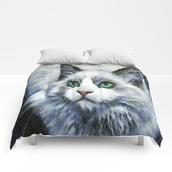 White Cat Comforters