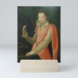 Santi di Tito - Portrait of a Young Woman as Portia Catonis Mini Art Print