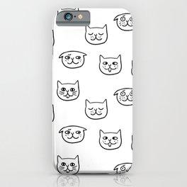 Cat heads iPhone Case