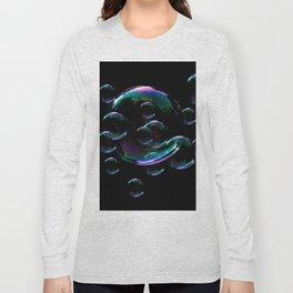 IRIDESCENT SOAP BUBBLES  BLACK COLOR Long Sleeve T-shirt