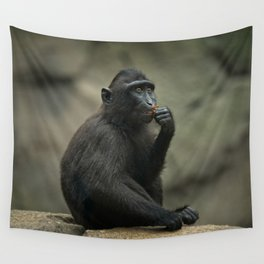 Celebes Crested Macaque Youngster Wall Tapestry