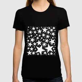 White on Black Lucky Stars T-shirt
