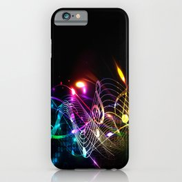Music Notes in Color iPhone Case