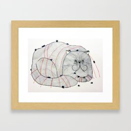 Grumpy the Persian. Framed Art Print