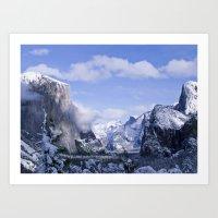 yosemite Art Prints featuring Yosemite by Ian Bevington