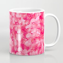Hot Pink Buttercup Flowers | Floral Pattern, Real Flowers, Spring Flowers, Bright Colors Coffee Mug