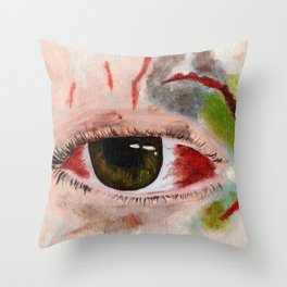 Busted and bruised Throw Pillow