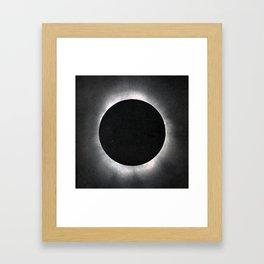 Black Eclipse Framed Art Print