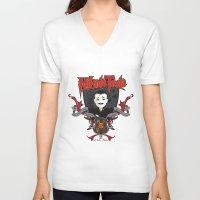 tesla V-neck T-shirts featuring Nikola Tesla by Spectacle Photo