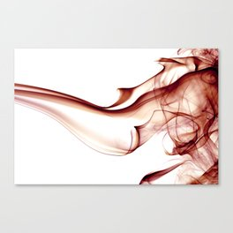 Smoke - Red Canvas Print