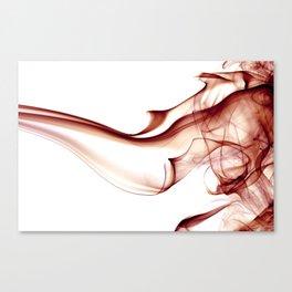 Smoke - Red Canvas Print