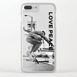 Love Pece SK8 Clear iPhone Case