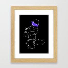 lonniedraws x blindfolded sub Framed Art Print