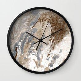 Vanilla Chocolate Sundae Melt Wall Clock