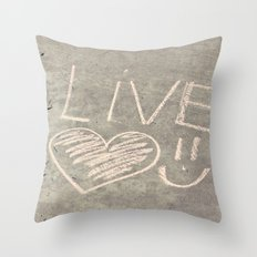 Live Love and Smile Often Throw Pillow