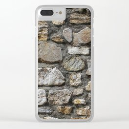 Stone wall texture. Clear iPhone Case