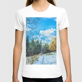 Larch in late autumn T-shirt