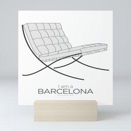 Chairs - A tribute to seats: I'm a Barcelona (poster) Mini Art Print